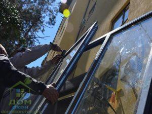 ламинированные цветные пластиковые окна темный дуб Rehau в орловке
