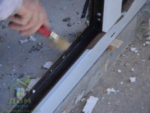 ламинированные цветные пластиковые окна темный дуб Rehau в инкермане