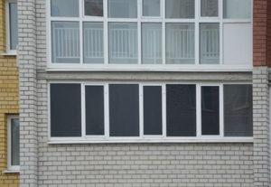 остекление ровного балкона