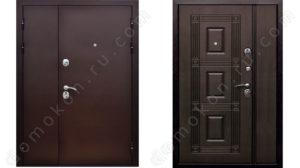 металлическая дверь 2 створчатая