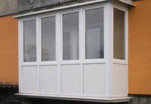 Застеклить П-образный балкон